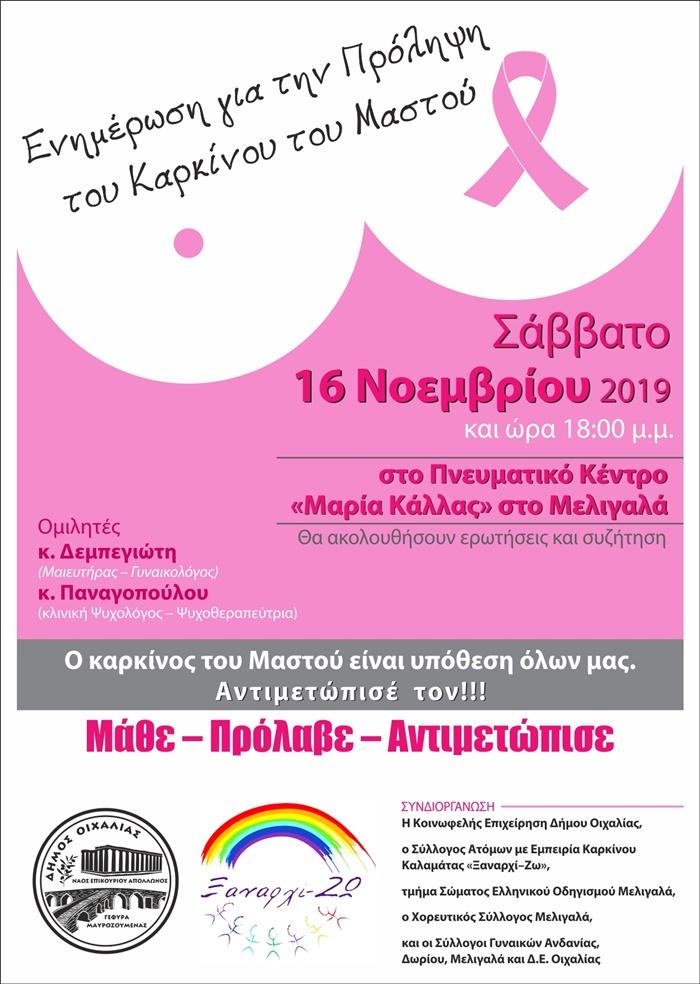 Δήμος Οιχαλίας: Ο καρκίνος του Μαστού είναι υπόθεση όλων μας 4