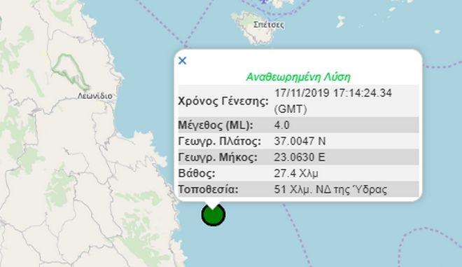 Σεισμός 4 Ρίχτερ ανοιχτά της Κυπαρισσίας 29