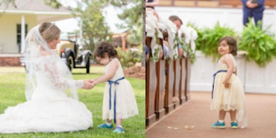 3χρονο κοριτσάκι που νίκησε τον καρκίνο έγινε παρανυφάκι στον γάμο της δότριας μυελού των οστών της 1