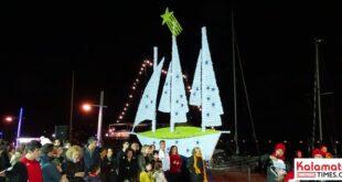DSC00388 1 310x165 - Άναψε το χριστουγεννιάτικο καράβι στο λιμάνι της Καλαμάτας
