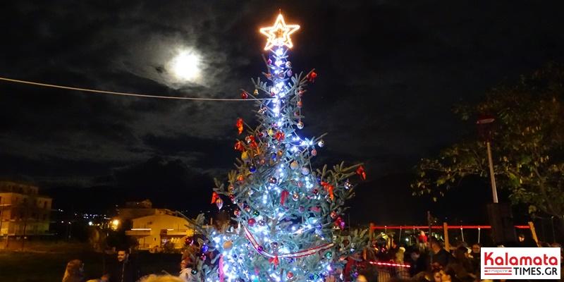Φωταγωγήθηκε το φυσικό χριστουγεννιάτικο δέντρο στο Φραγκοπήγαδο 1