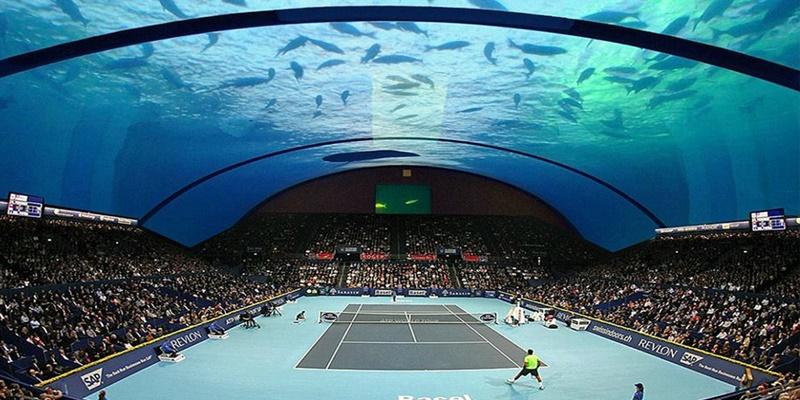 Το πρώτο υποβρύχιο γήπεδο τένις του κόσμου στο Ντουμπάι 6
