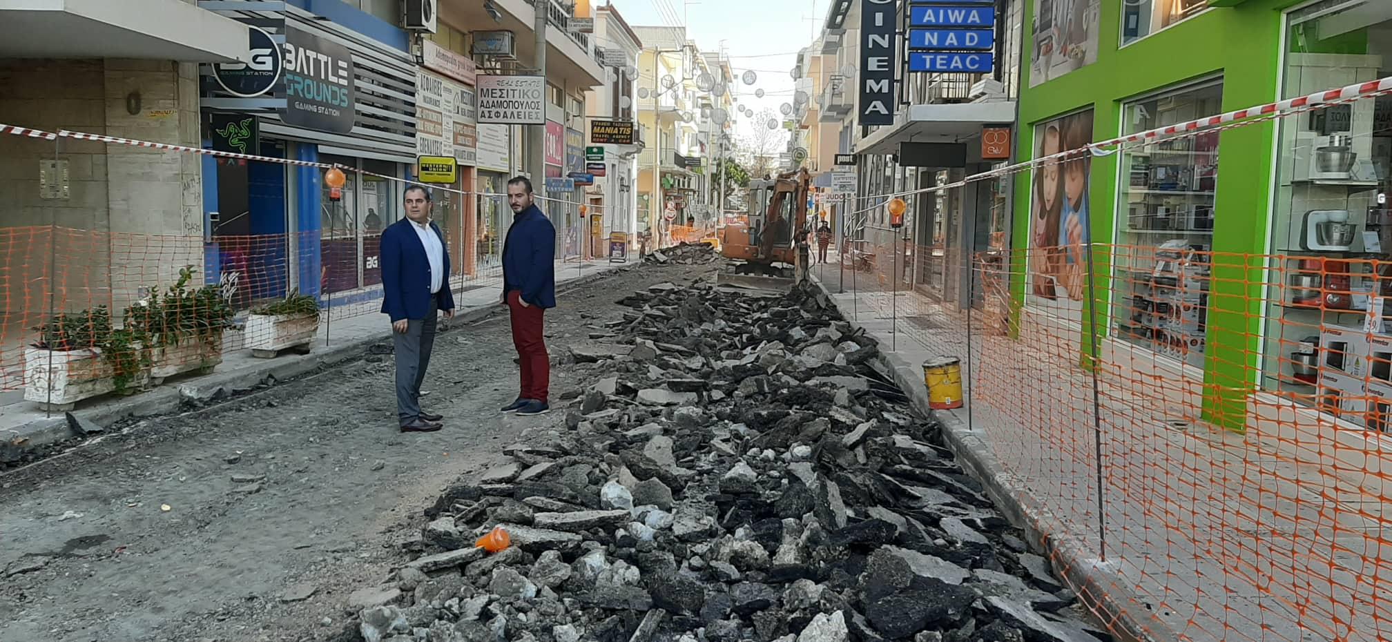 Ξεκίνησαν οι εργασίες για την πεζοδρόμηση στην οδό Ιατροπούλου 2