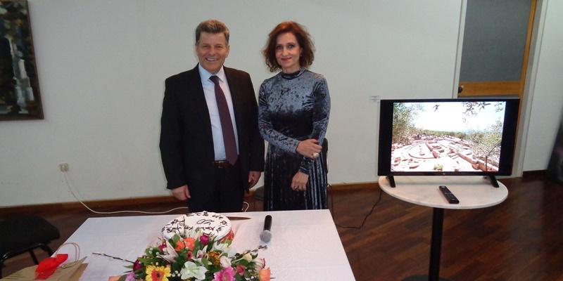 Τα αποτελέσματα των ανασκαφών του 2019 παρουσίασε η Αραπογιάννη στην κοπή της πίτας 2