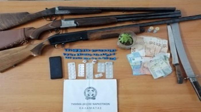 Συνελήφθησαν πέντε άτομα με ναρκωτικά και όπλα στη Μεσσηνία 10