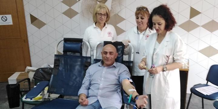 Εθελοντική αιμοδοσία των υπαλλήλων της Περιφέρειας στο Διοικητήριο 14