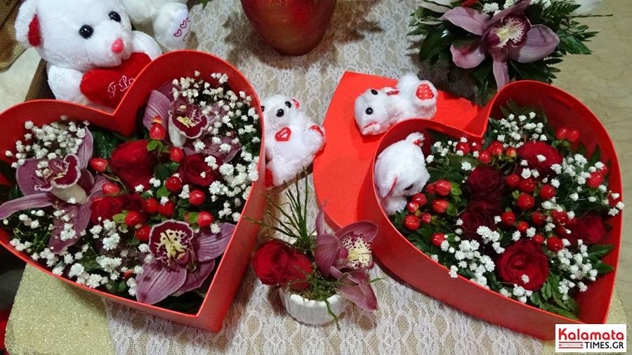 Αποστολή λουλουδιών για το πιο γλυκό «Σ' αγαπώ» από το ανθοπωλείο Μπούνας 7