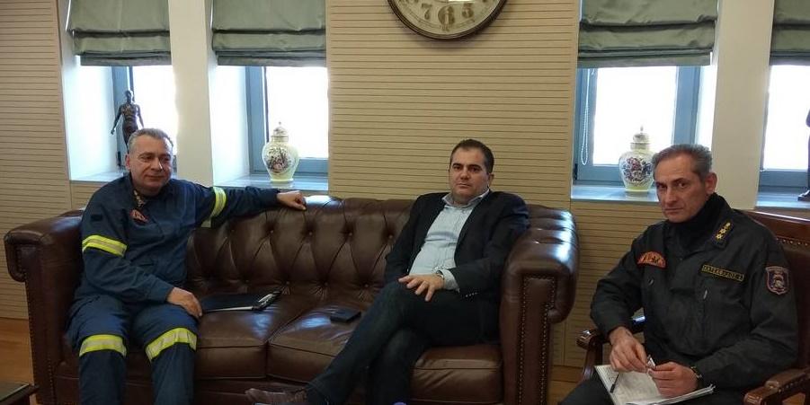 Συνάντηση Διοικητή και Υποδιοικητή της Π.Υ. Καλαμάτας με Βασιλόπουλο 3