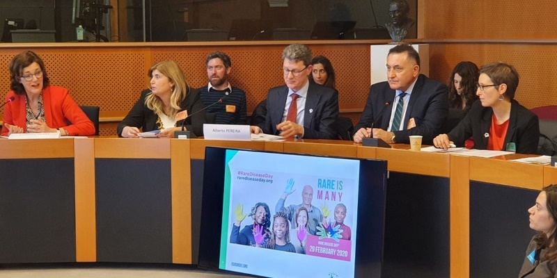 Ο Παναγιώτης Χαλβατσιώτης για τα σπάνια νοσήματα στο Ευρωπαϊκό Κοινοβούλιο στις Βρυξέλλες 1