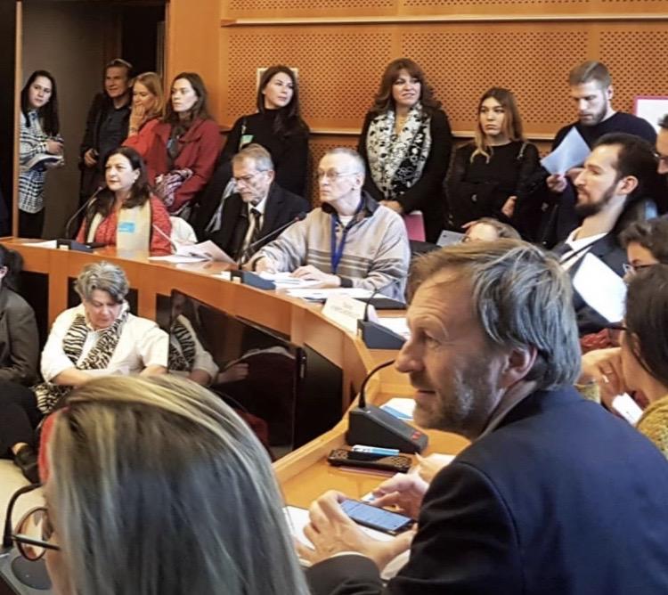 Ο Παναγιώτης Χαλβατσιώτης για τα σπάνια νοσήματα στο Ευρωπαϊκό Κοινοβούλιο στις Βρυξέλλες 2