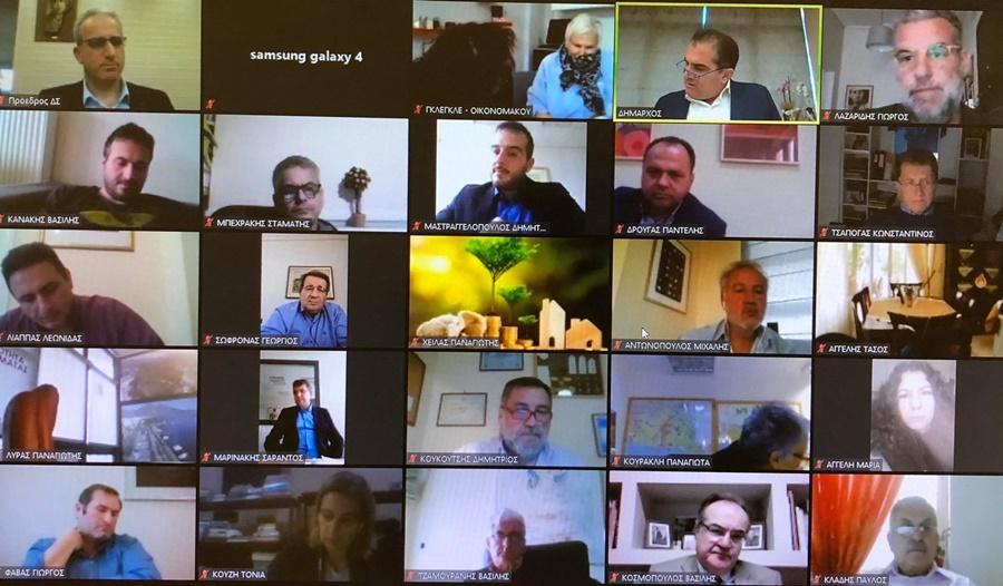 Μέσω τηλεδιάσκεψης η συνεδρίαση του Δημοτικού Συμβουλίου Καλαμάτας 1