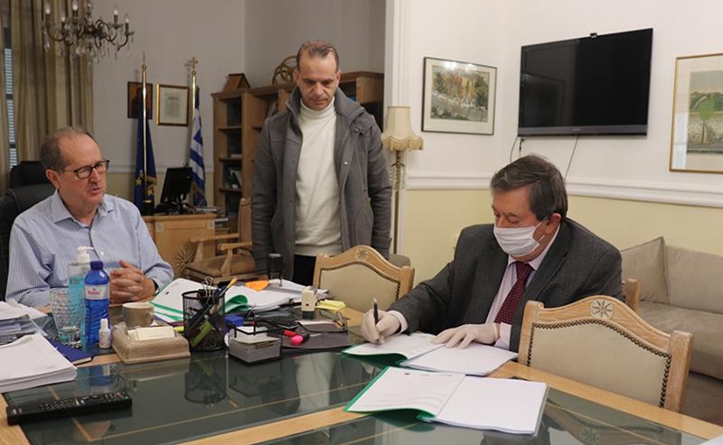 Υπογράφηκε η σύμβαση για το ΤΕΒΑ 1