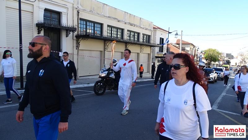 Αναχώρησε η Ολυμπιακή φλόγα από την Καλαμάτα για Σπάρτη 7