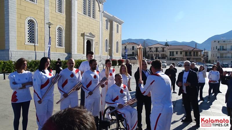 Αναχώρησε η Ολυμπιακή φλόγα από την Καλαμάτα για Σπάρτη 12