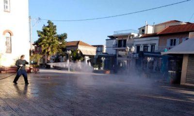 Απολυμάνσεις κοινόχρηστων χώρων και επαναλειτουργία λαϊκών αγορών στην Οιχαλία 9