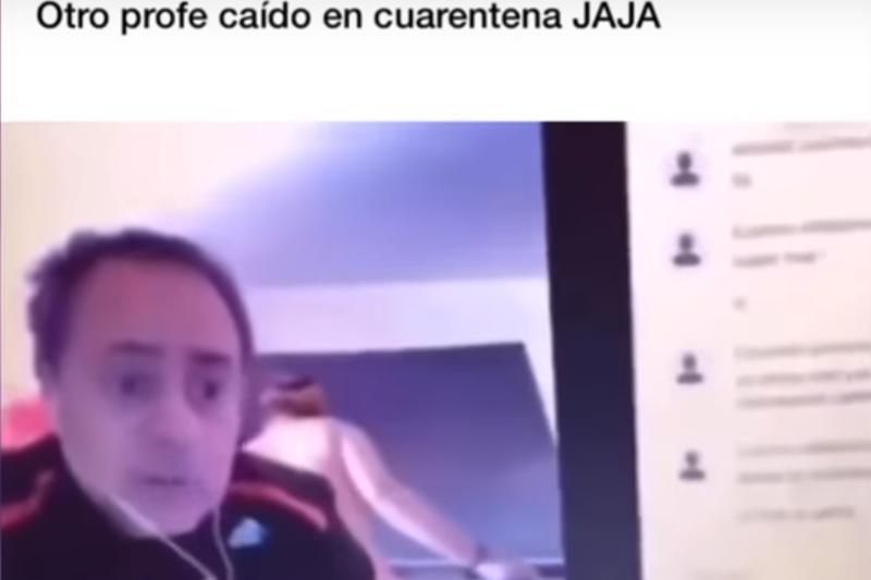 Καθηγητής κάνει μάθημα και από πίσω φαίνεται η γuμvή γυναίκα του 16