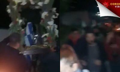 Ρόδος: Έκαναν περιφορά του επιταφίου στις 4 τα ξημερώματα - βίντεο 2