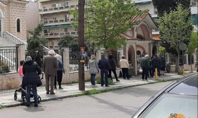«Αντάρτικο» πιστών, ουρά έξω από εκκλησία στην Θεσσαλονίκη 10