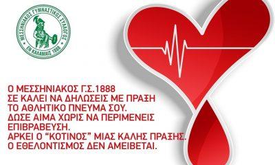 Μεσσηνιακός ΓΣ - Δώσε αίμα χωρίς να περιμένεις επιβράβευση 3