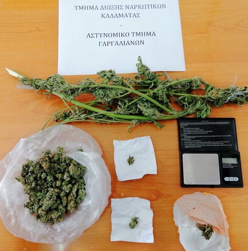 Συνελήφθησαν στους Γαργαλιάνους ένας 38χρονος και ένας 66χρονος για ναρκωτικά 1