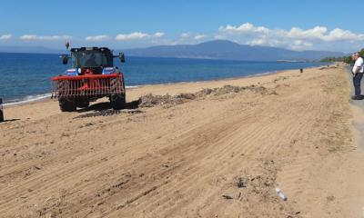 Καθαρισμός και τοποθέτηση καλαθάκια απορριμμάτων στη Δυτική Παραλία Καλαμάτας 8