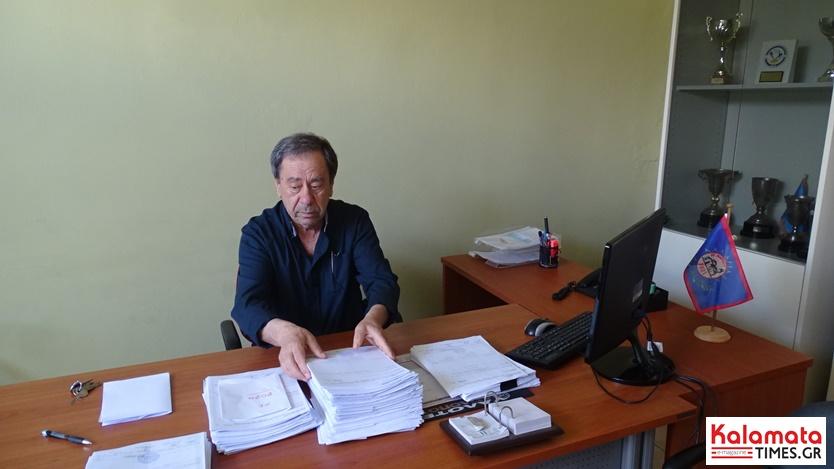 Πρόεδρος Αθλητικού φορέα Καλαμάτας Τάκης Βασιλόπουλος