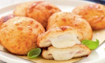 Πεντανόστιμες πατατοκροκέτες γεμιστές με τυρί και ζαμπόν 1