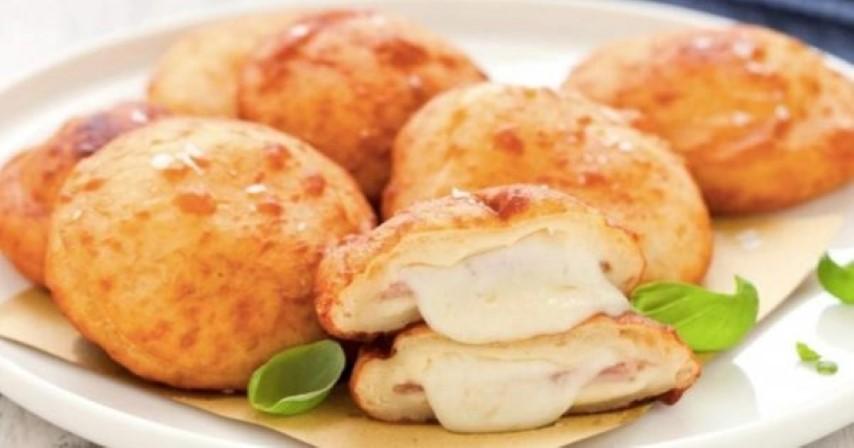 Πεντανόστιμες πατατοκροκέτες γεμιστές με τυρί και ζαμπόν 6