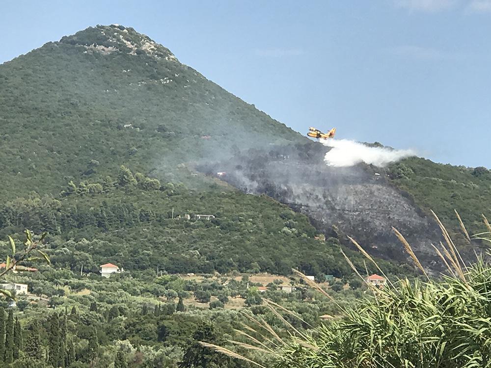 Υπό έλεγχο τέθηκε η πυρκαγιά στο Χανδρινού Μεσσηνίας 10