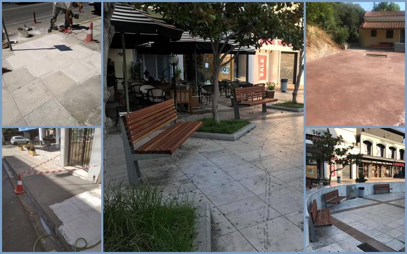 Εργασίες σε κέντρο και γειτονιές της Καλαμάτας