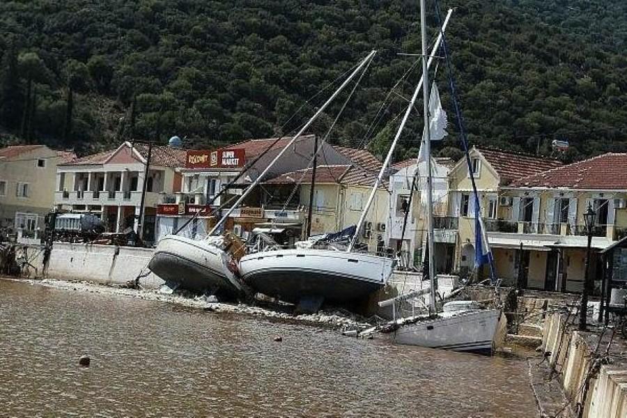 Κακοκαιρία Ιανός: 43 σκάφη βυθίστηκαν στην Κεφαλονιά 13