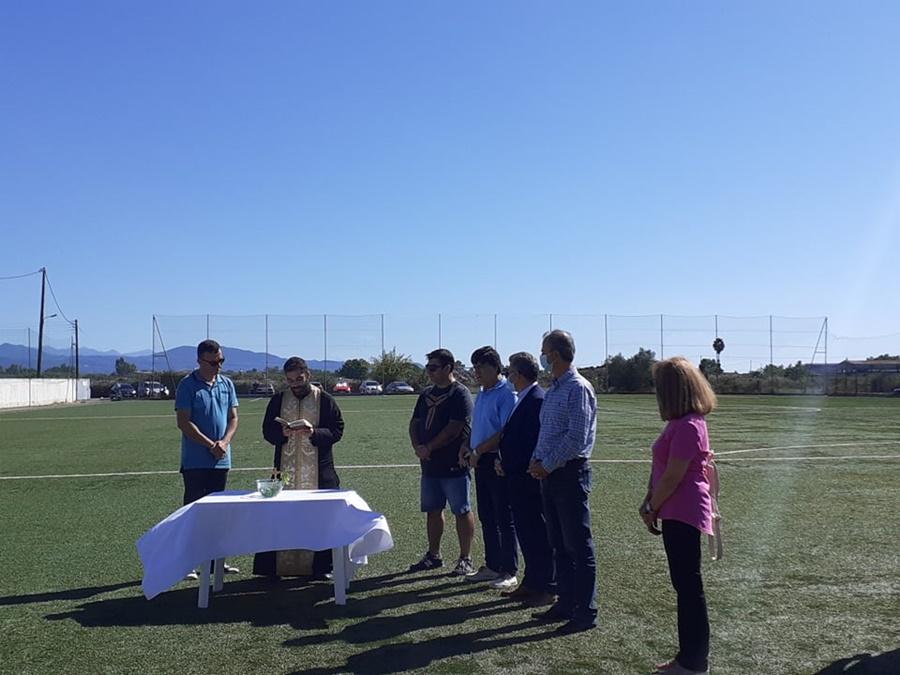 Αγιασμός στην γυναικεία ομάδα ποδοσφαίρου του Εθνικού Καλαμάτας 1