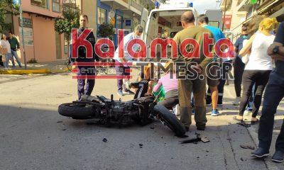 Τροχαίο με τραυματία οδηγό μηχανής στη διασταύρωση Μακεδονίας & Θεμιστοκλέους 12