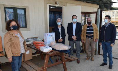 Απινιδωτές και εκπαιδευτικό υλικό προσέφερε ο Δήμος στο Περιφερειακό Τμήμα Καλαμάτας του Ε.Ε.Σ. 7