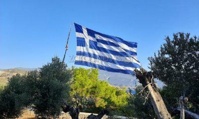 Κρητικός ύψωσε τη μεγαλύτερη Ελληνική σημαία του κόσμου στο Καστελόριζο 43