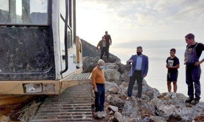 Ο Αντιπεριφερειάρχης επισκέφτηκε το έργο αποκατάστασης του αλιευτικού καταφυγίου στις Κιτριές 14