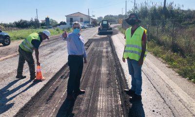 Προχωρούν τα έργα βελτίωσης στην εθνική οδό Μεσσήνη - Πύλος 10