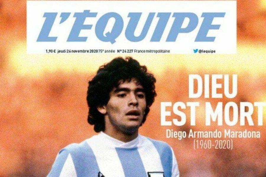 Το συγκλονιστικό πρωτοσέλιδο της L` Equipe για τον Ντιέγκο 5