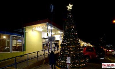 Η Κεντρική Αγορά Καλαμάτας ανάβει το Xριστουγεννιάτικο δέντρο της