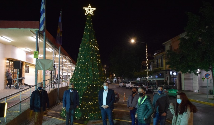 Φωταγωγήθηκε το Χριστουγεννιάτικο δέντρο στην Κεντρική Αγορά Καλαμάτας 11