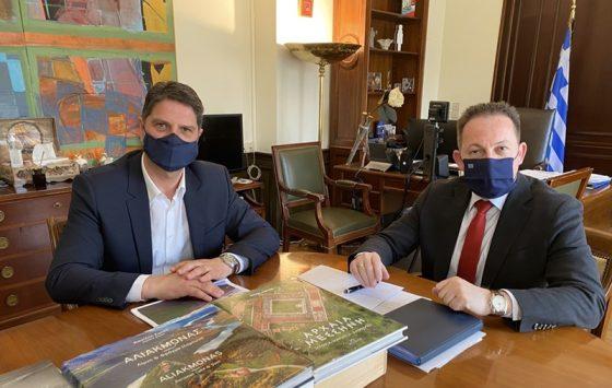 Συνάντηση με τον Στέλιο Πέτσα είχε ο Δήμαρχος Μεσσήνης Γιώργος Αθανασόπουλος για θέματα του Δήμου